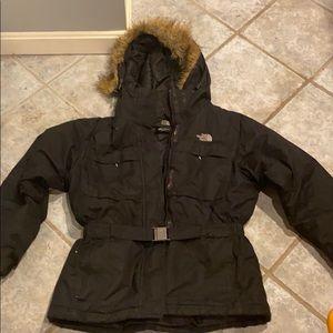 Women's black North Face Dunagiri jacket